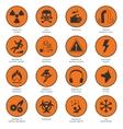 Hazard Icons Black vector image