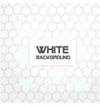 hexagon white pattern white background imag vector image