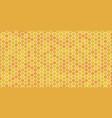 hexagonal honeycomb bee background pattern vector image