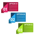 Infographics option banners vector image vector image