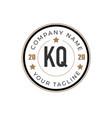 initial letter kq elegance logo design template vector image vector image