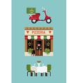 Italian Pizzeria Icon Set vector image vector image