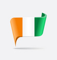 ivorian flag map pointer layout vector image