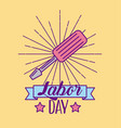 labor day job vector image