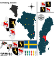 Map of Gavleborg vector image vector image