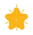 merry christmas gold star decoration icon vector image