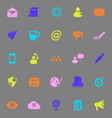 Message and email color icons on gray background vector image vector image