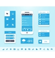 Mobile OS UI interface elements vector image vector image