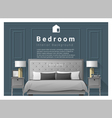 Modern bedroom background Interior design 2 vector image vector image