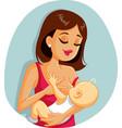 mother breastfeeding newborn ba vector image vector image