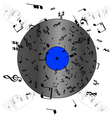 Music record vector image vector image