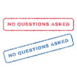 no questions asked textile stamps vector image vector image