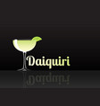 official cocktail icon the unforgettable daiquiri vector image vector image