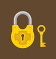 padlock and key flat vector image