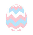 painted easter egg simple icon vector image vector image