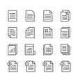 paper documents line icon set vector image vector image