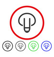 penis rounded icon vector image vector image