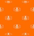 pirate treasures pattern orange vector image vector image
