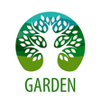 Round logo tree for the garden vector image vector image