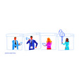 set different poses businesspeople office workers vector image vector image