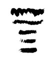 set of black grunge brush strokes vector image vector image