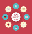 set of shopping icons flat style symbols with sale vector image vector image