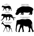 silhouettes animals africa vector image