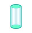 solarium is vertical isolated apparatus for vector image
