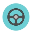 Steering wheel flat icon vector image vector image