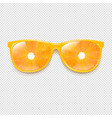 sunglasses with orange and transparent background vector image vector image