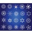 symbolic snowflakes vector image vector image