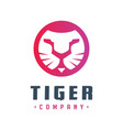 tiger head logo design your company vector image