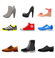 types of shoes icons set vector image vector image