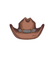 western american cowboy hat cartoon icon sketch vector image vector image
