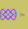 yoga studio banner indian flower mandala art vector image