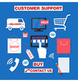 Customer Service Concept Set of Icons vector image