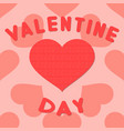 valentines day background with heart pattern vector image