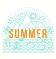 Line Style Flat Summer with vector image