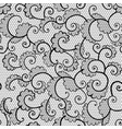 seamless black lace ornamental pattern with curls vector image