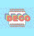 3d bold retro font vintage alphabet vector image vector image