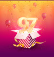 97th years anniversary design element vector image vector image