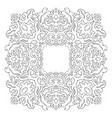 abstract filigree ornament vector image vector image