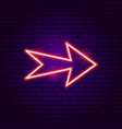 arrow neon label vector image