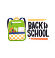 back to school text lettering composition vector image vector image