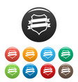 badge design icons set color vector image vector image