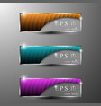 banners with lines pattern vector image vector image