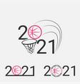 basketball sign 2021 set logo vector image