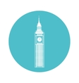 big ben building isolated icon vector image vector image