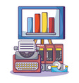 business and office vector image vector image