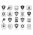 Business data security icons vector image vector image